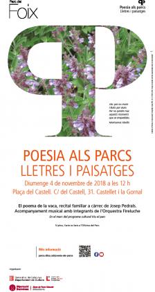 Programa Poesia als parcs. Lletres i paisatges